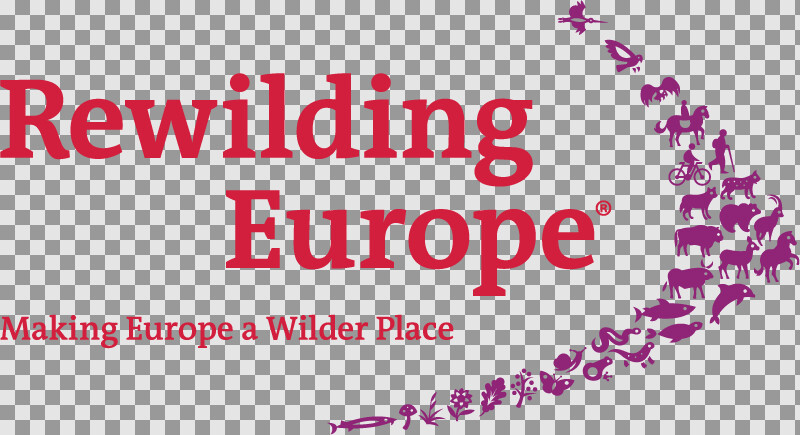 Logo Rewilding Europe with tagline